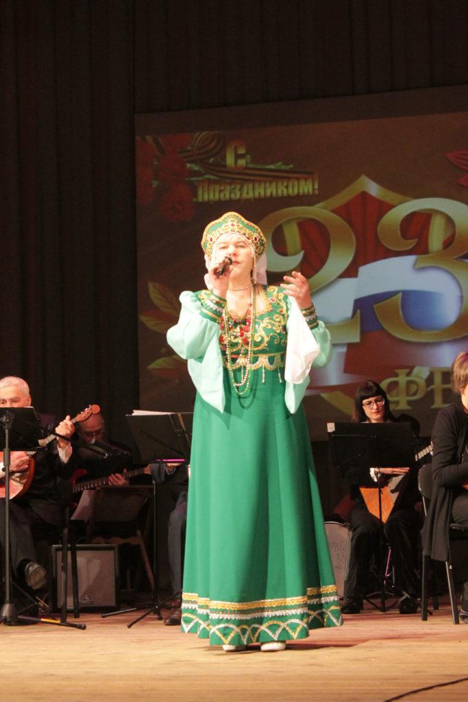 Праздничный концерт ко Дню защитника Отечества.