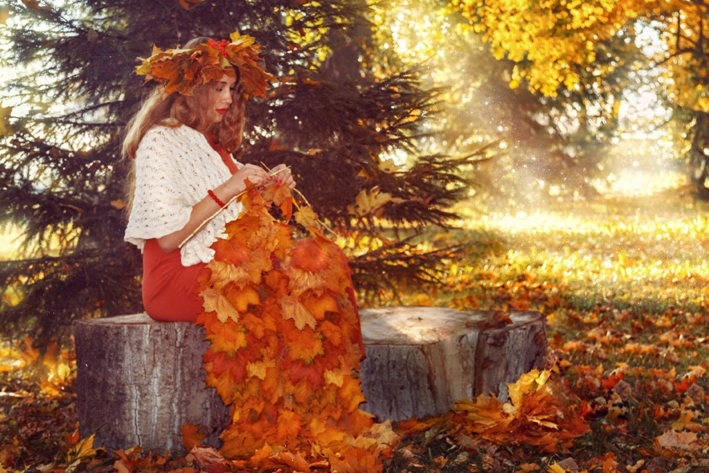 «В садах опять колдует листопад»